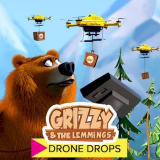 Drone Drops - Grizzy and the lemmings