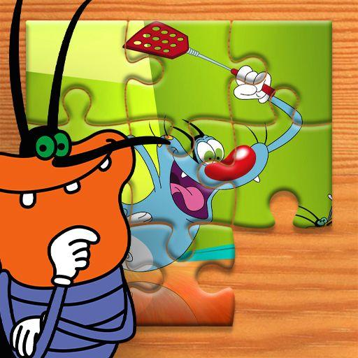 Oggy and the Cockroaches Jigsaw Puzzle